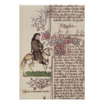 Retrato del facsímil de Geoffrey Chaucer de Póster