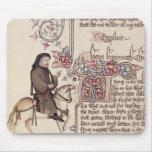 Retrato del facsímil de Geoffrey Chaucer de Tapetes De Ratón