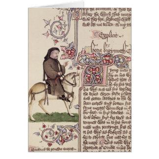 Retrato del facsímil de Geoffrey Chaucer de Felicitación