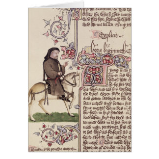 Retrato del facsímil de Geoffrey Chaucer de Tarjeta De Felicitación