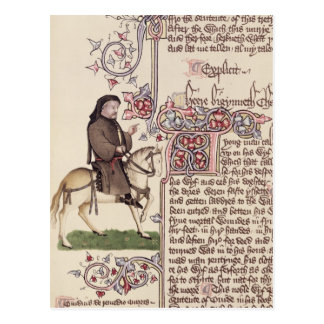 Retrato del facsímil de Geoffrey Chaucer de Tarjeta Postal
