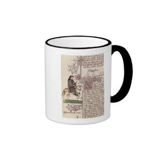 Retrato del facsímil de Geoffrey Chaucer de Taza De Dos Colores