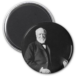 Retrato del filántropo Andrew Carnegie Imán Redondo 5 Cm