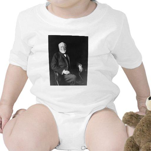 Retrato del filántropo Andrew Carnegie Traje De Bebé