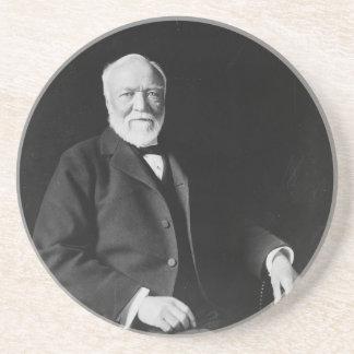 Retrato del filántropo Andrew Carnegie Posavasos Para Bebidas