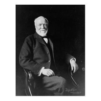 Retrato del filántropo Andrew Carnegie Postal