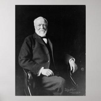 Retrato del filántropo Andrew Carnegie Póster