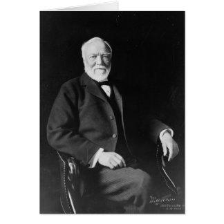 Retrato del filántropo Andrew Carnegie Tarjeta De Felicitación