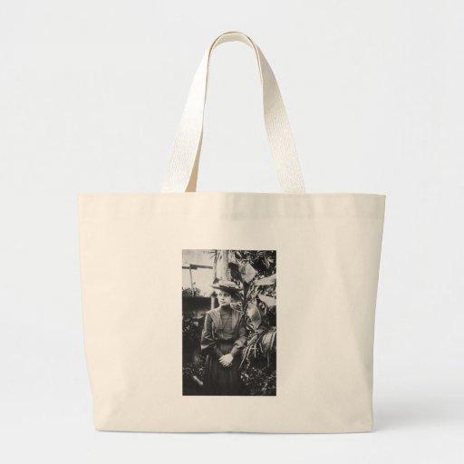 Retrato del físico austríaco Lise Meitner Bolsa Tela Grande
