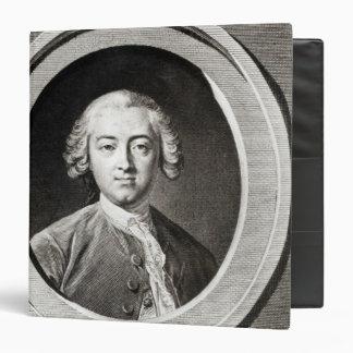 """Retrato del francés de Claude Adrien Helvetius Carpeta 1 1/2"""""""