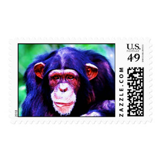 Retrato del franqueo del chimpancé timbres postales