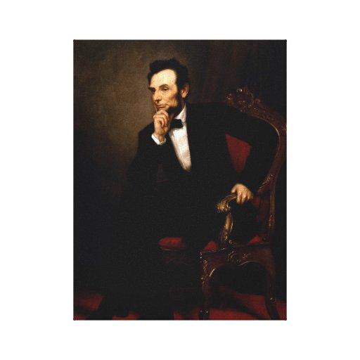 Retrato del funcionario de Abraham Lincoln Impresiones En Lona Estiradas