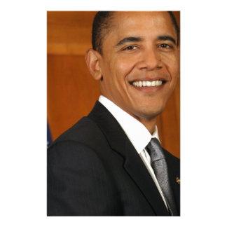 Retrato del funcionario de Barack Obama Papeleria De Diseño