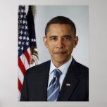 Retrato del funcionario de Barack Obama Posters