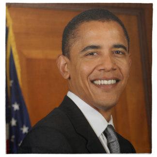 Retrato del funcionario de Barack Obama Servilleta