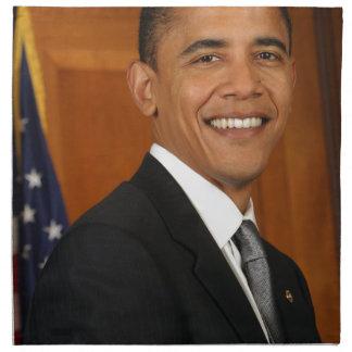 Retrato del funcionario de Barack Obama Servilletas Imprimidas