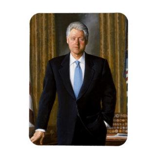 Retrato del funcionario de Bill Clinton Rectangle Magnet