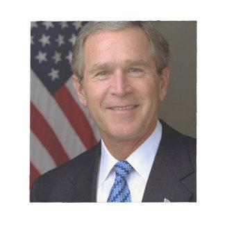Retrato del funcionario de George W. Bush Bloc De Notas