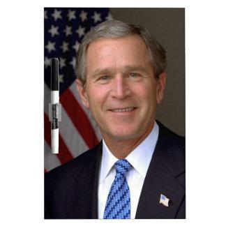 Retrato del funcionario de George W. Bush Pizarra