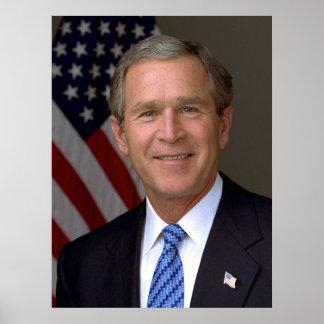 Retrato del funcionario de George W. Bush Póster