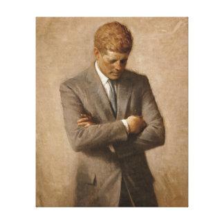 Retrato del funcionario de John F. Kennedy Impresión En Lienzo