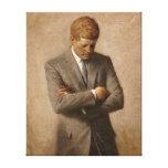 Retrato del funcionario de John F. Kennedy Impresiones De Lienzo