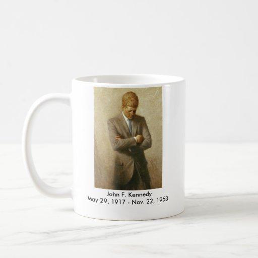 Retrato del funcionario de John F. Kennedy Tazas