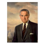 Retrato del funcionario de Lyndon Johnson Postal