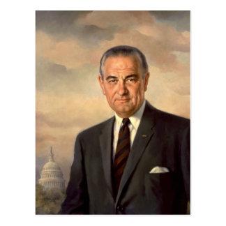 Retrato del funcionario de Lyndon Johnson Postal