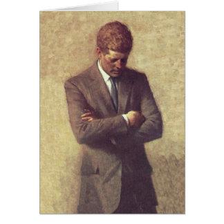 Retrato del funcionario de presidente John F. Tarjeta De Felicitación