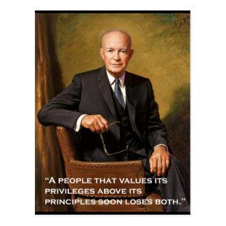 Retrato del funcionario del _Eisenhower de Tarjetas Postales