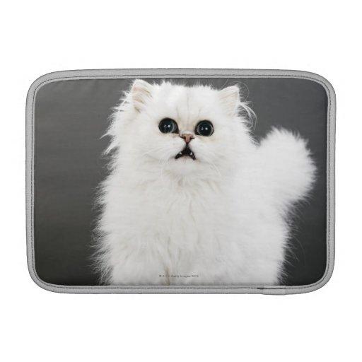 Retrato del gatito funda para macbook air