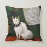 Retrato del gato Armellino Cojines