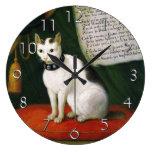 Retrato del gato Armellino Reloj De Pared