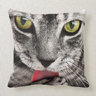 Retrato del gato cojín