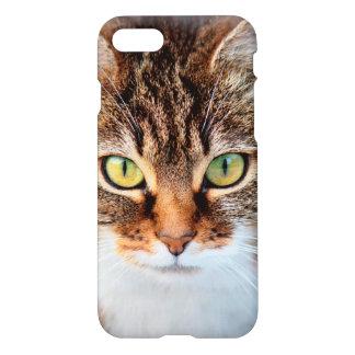Retrato del gato de la Isla de Man de ojos verdes Funda Para iPhone 7