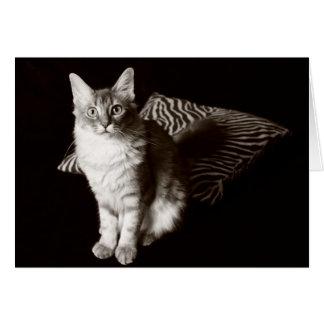 retrato del gato de la sepia 11480 tarjetón