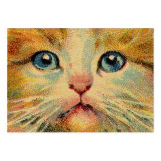 Retrato del gato del vintage tarjetas de visita grandes