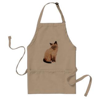 Retrato del gato delantal