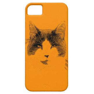 Retrato del gato iPhone 5 funda