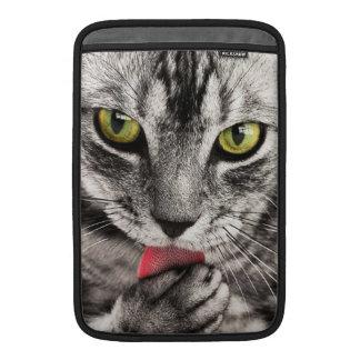Retrato del gato fundas para macbook air