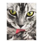 Retrato del gato impresión en lona estirada
