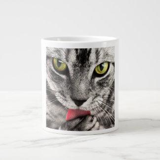 Retrato del gato taza grande