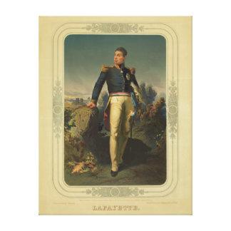 Retrato del general francés marqués de Lafayette Lienzo Envuelto Para Galerías
