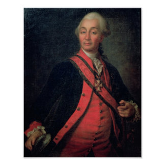 Retrato del generalísimo del mariscal de campo póster