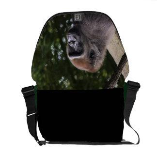 Retrato del gorila bolsa de mensajeria