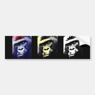Retrato del gorila pegatina de parachoque