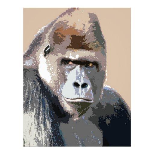 """Retrato del gorila folleto 8.5"""" x 11"""""""