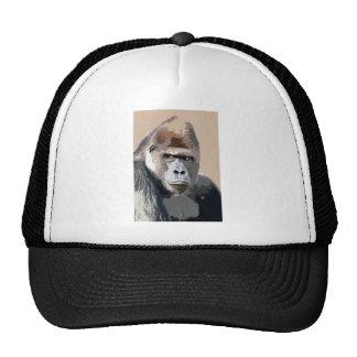 Retrato del gorila gorras de camionero