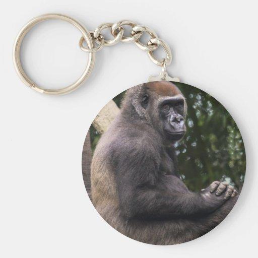 Retrato del gorila llavero personalizado